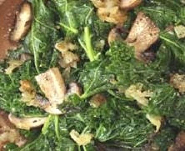 Simple Kale With Mushrooms  (superfood) Recipe