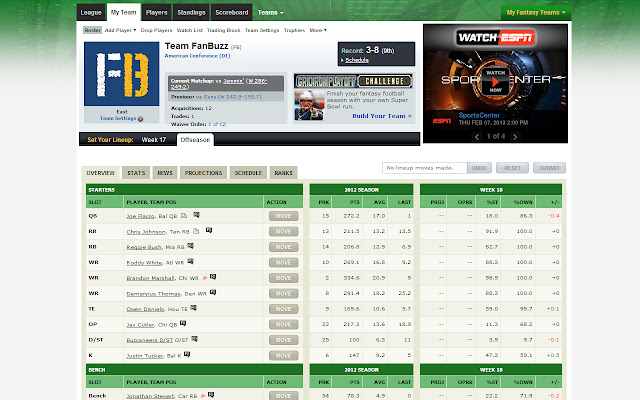 FanBuzz for ESPN Fantasy Sports