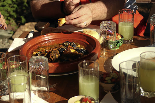 Lamb tagine at a cooking class at the centre. Picture: MADELEINE MORROW