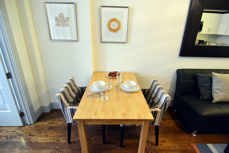 Dining space at Prospect Heights Apartments