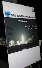 Photo: Registration at the STS-130 Tweetup, held at Space Center Houston