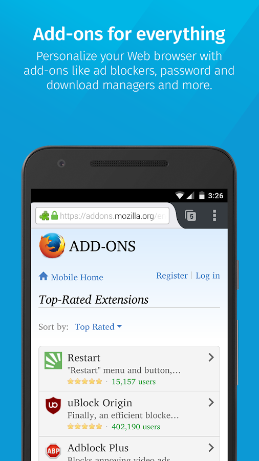 Firefox Browser for Android- screenshot