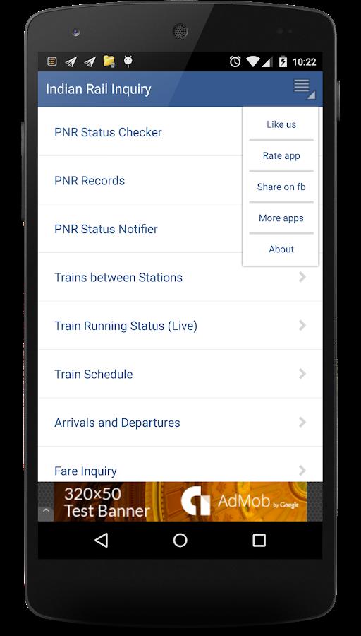 Indian Rail Enquiry- screenshot