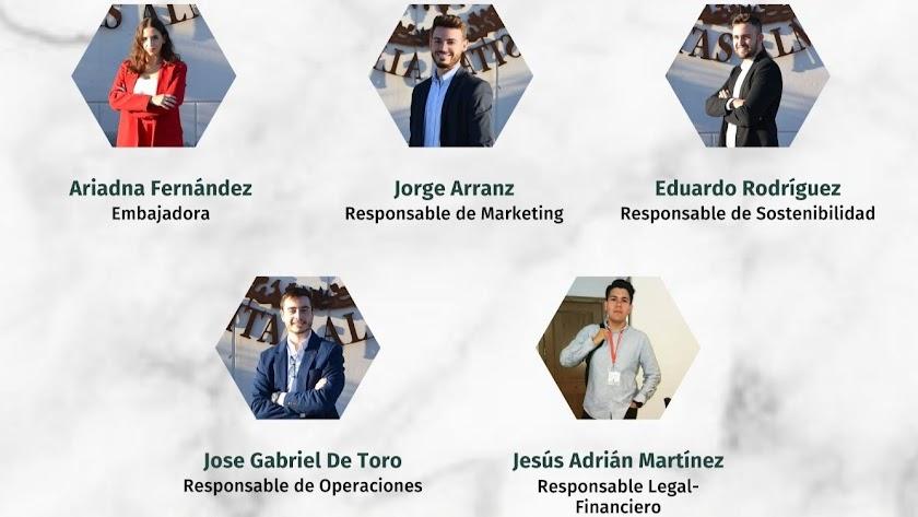 Los cinco alumnos promotores del proyecto.