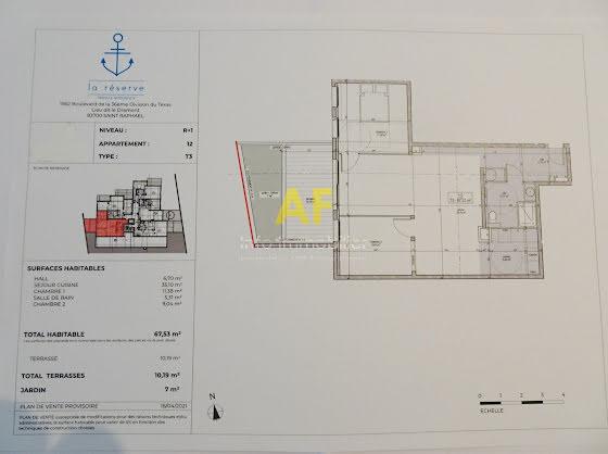 Vente appartement 2 pièces 67,53 m2