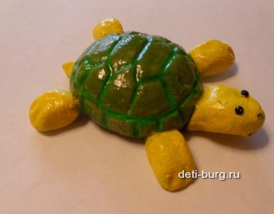 Поделка из соленого теста черепаха