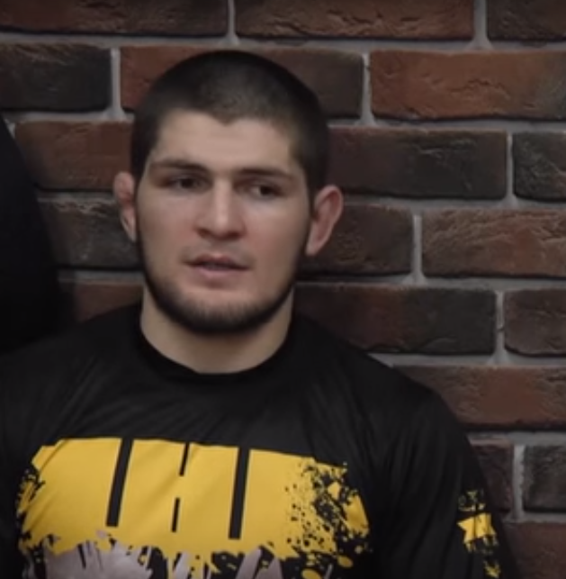 UFC Lightweight Champion Khabib                   Nurmagomedov. Photo by Время спорта (under CC 3.0, Image cropped)