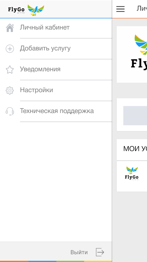 FlyGo inform- screenshot