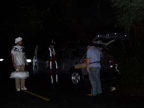Photo: Salt, Sutro tower, Beer pong table, and Pepper getting out of the car.