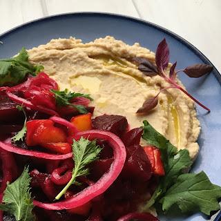 """Roasted Beet Salad with Cannellini """"Hummus"""""""