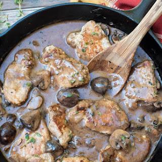 Steakhouse Mushroom Pork Loin Medallions.