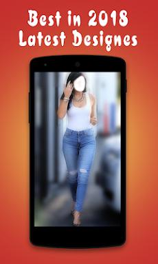ジーンズで美しい女の子:ジーンズアプリ写真エディタのおすすめ画像1