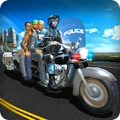 Bus Bike Parking Game: Police Bike City Driving