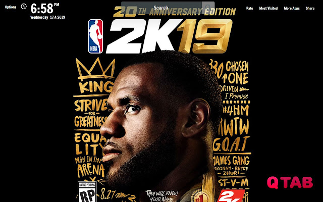 NBA 2K19 New Tab NBA 2K19 Wallpapers