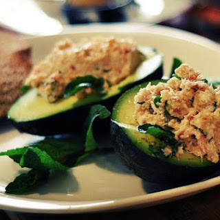 Crab Salad in Avocado Boats.