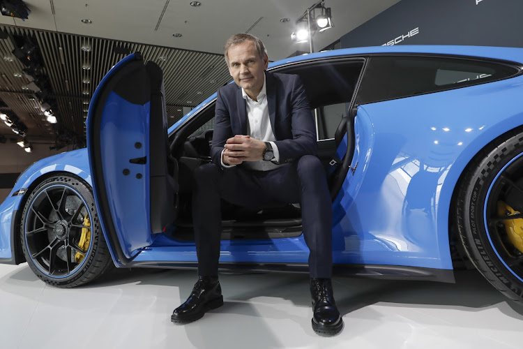 Porsche chair Oliver Blume, who says that by 2030 Porsche aims to be carbon-neutral throughout the entire production value chain. Picture: SUPPLIED