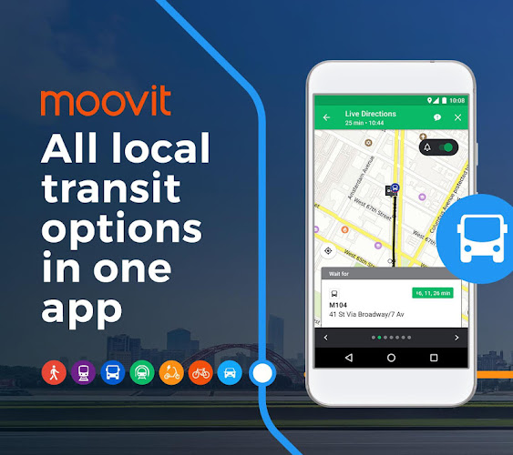 Moovit: Bus Times, Train Times & Live Updates Android App Screenshot