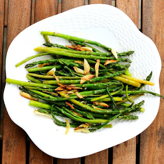 Baby Asparagus and Crispy Garlic Recipe