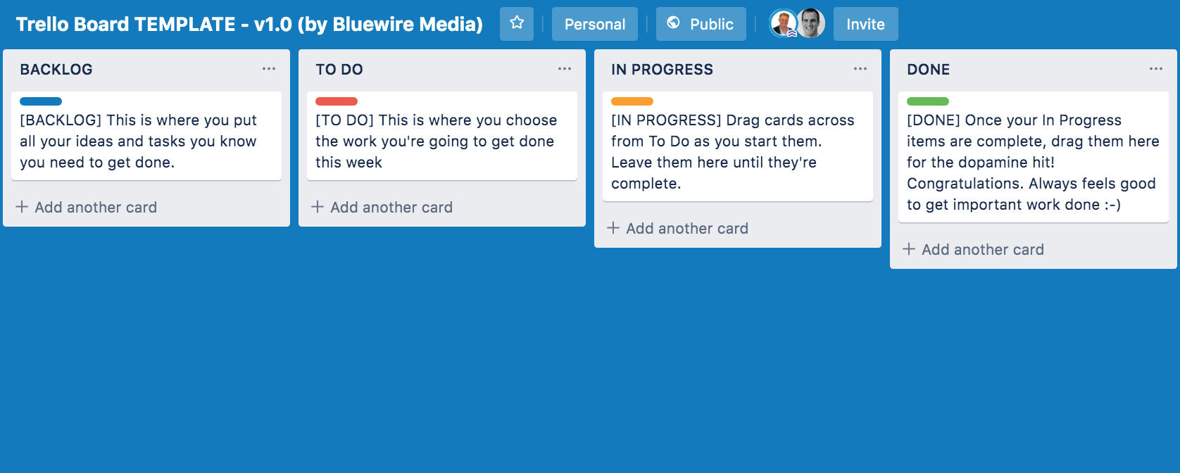 Trello Board Template