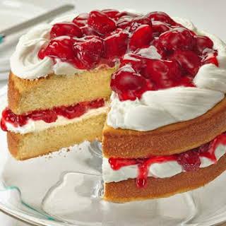 Sunshine Strawberry French Vanilla Cake.