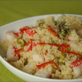 Couscous with Asparagus and Surimi.