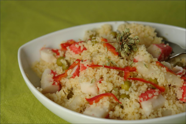 Couscous with Asparagus and Surimi Recipe