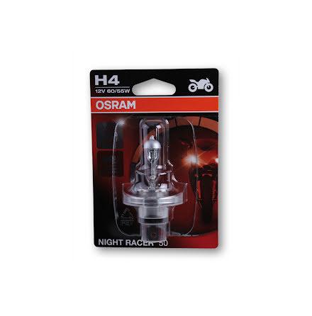 H4 incandescent lamp, NIGHT RACER 50, +50% higher luminous efficacy, single blister