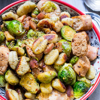 Gnocchi with Chicken Sausage, Brussel Sprouts and Apples