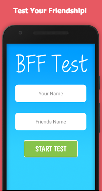 BFF Friendship Test Android App Screenshot
