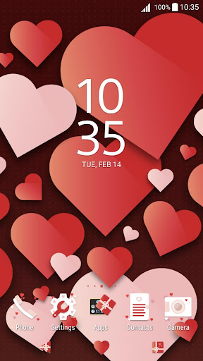 XPERIA™ Valentine's Theme app (apk) free download for Android/PC/Windows screenshot