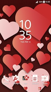 XPERIA™ Valentine's Theme- screenshot thumbnail