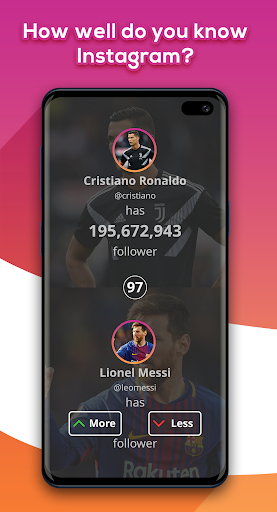 Higher Lower Game for Instagram screenshots 1