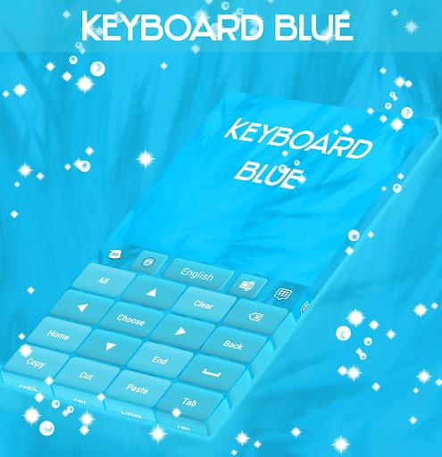 玩免費個人化APP|下載键盘蓝色主题 app不用錢|硬是要APP