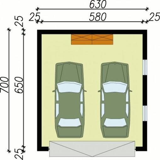 G30 - Rzut garażu