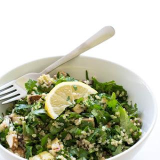 Chopped Kale Quinoa and Avocado Salad