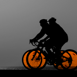 Riding at sunset by Yuval Shlomo - Sports & Fitness Cycling