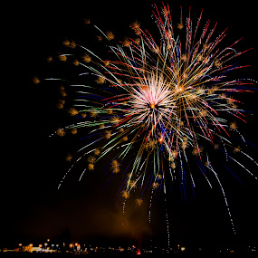 Fireworks by Stéphan Savard - Abstract Fire & Fireworks ( fireworks, canon 7d )