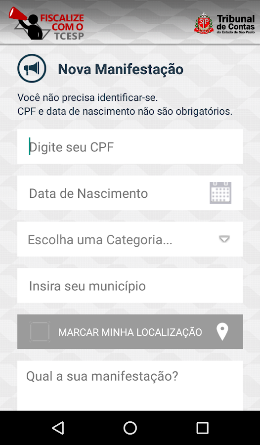Fiscalize com o TCESP- screenshot