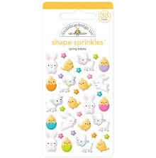 Doodlebug Sprinkles Adhesive Glossy Enamel Shapes 33/Pkg - Spring Babies