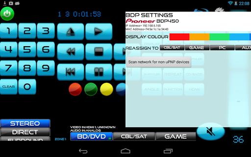 Remote for Panasonic TV+BD+AVR screenshot 6