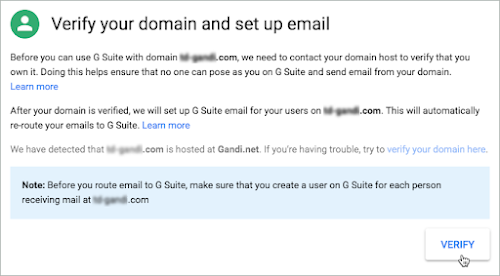 Verify your domain and set up email screen