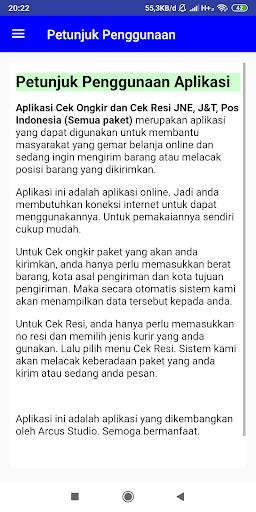 Cek Ongkir dan Cek Resi JNE, J&T, Pos (All ) 3.0 screenshots 5
