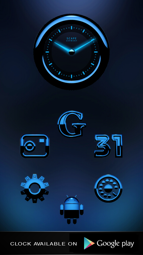 A-BLUE Smart Launcher Theme Screenshot 1