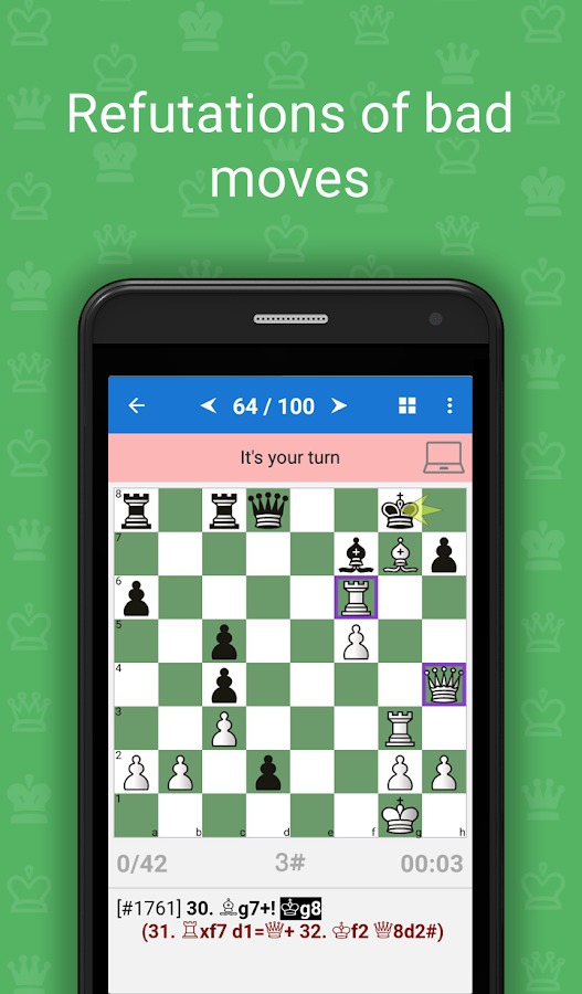 Mate in 3-4 (Chess Puzzles)- screenshot