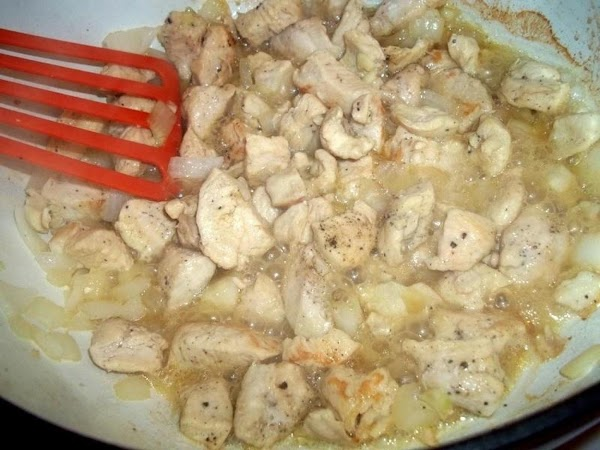 In a dutch oven, melt butter. Salt and pepper your chicken and add to...
