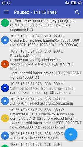 Logcat Extreme Pro app for Android screenshot