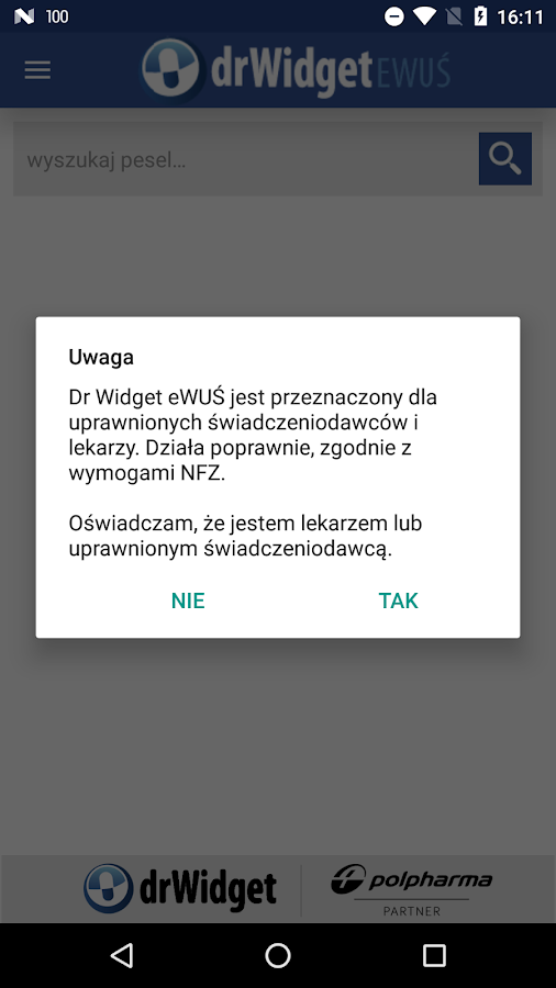 DrWidget eWUŚ- screenshot