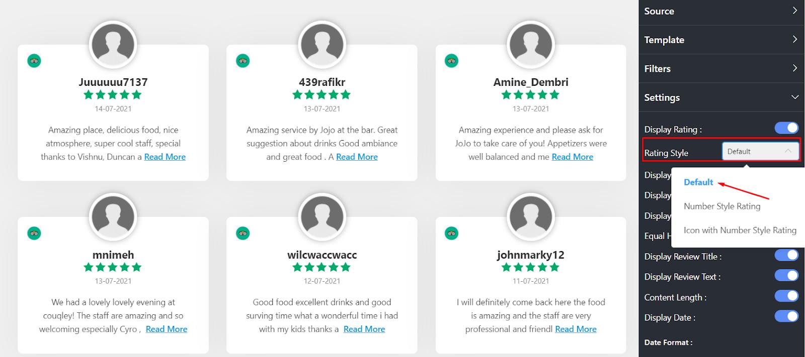 Tripadvisor rating rating style