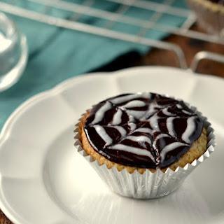 Spooky Spider Web Coconut Cupcakes with Chocolate Ganache (Vegan, Gluten-Free, Grain-Free, Oil-Free)