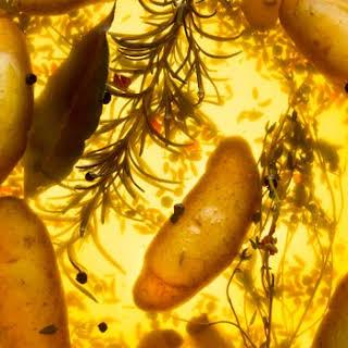 Brined Fingerling Potatoes.